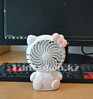 Настольный светильник и вентилятор 2 в 1 Hello Kitty аккумуляторный NO.SY802