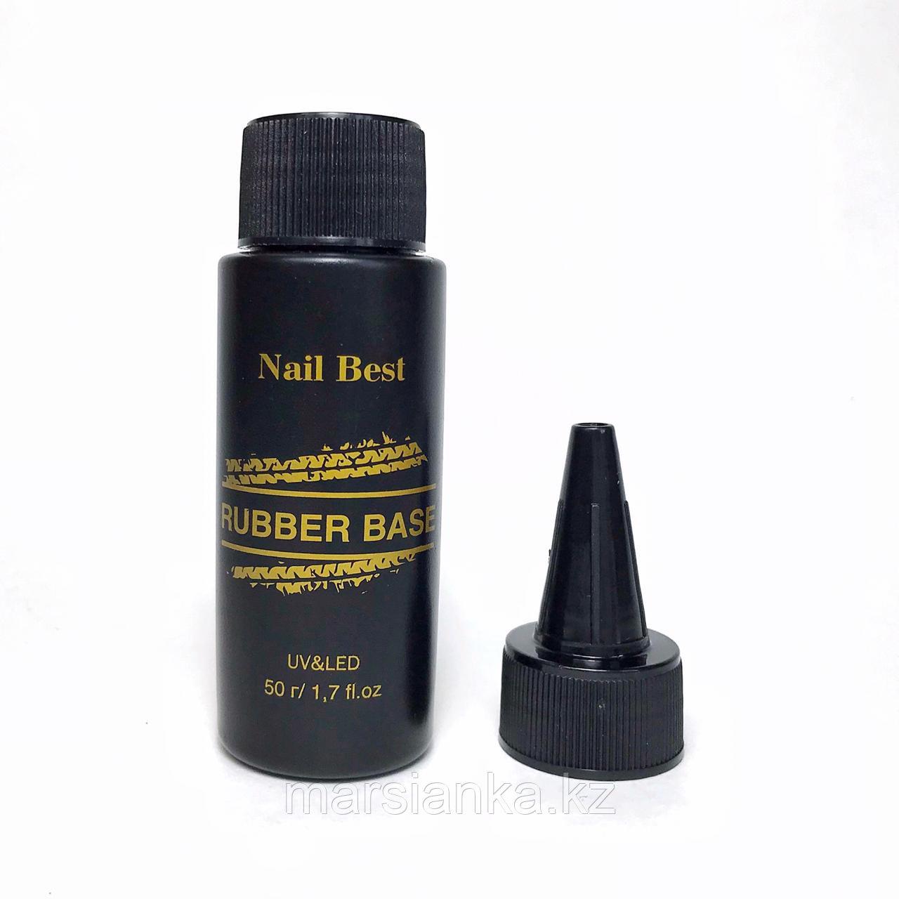 База Nail Best Rubber base (каучуковая прозрачная база), 50мл