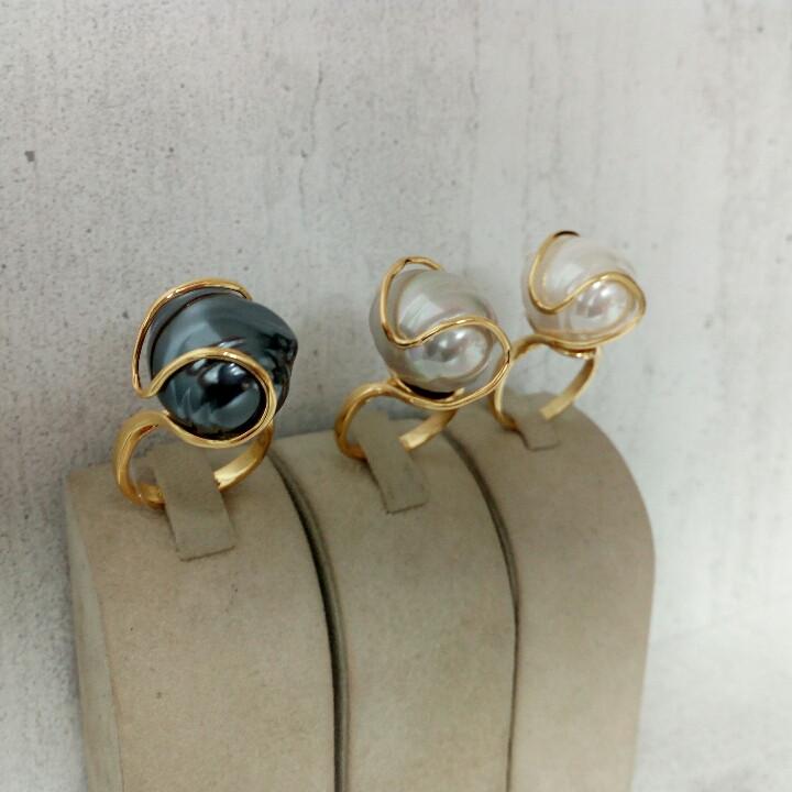 Кольцо с жемчугом Майорка / 16,5 размер