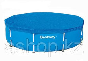 Тент для каркасного бассейна 3050 мм Bestway Pool Covers 58037,,, Искусственный водостойкий брезент, 0,10 мм,