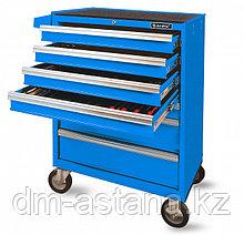 Тележка инструментальная (синяя) с набором инструмента 216 предмета, 7 ящиков