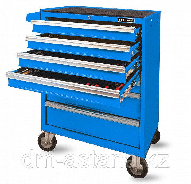 Тележка инструментальная без инструмента  7 ящиков (синяя)