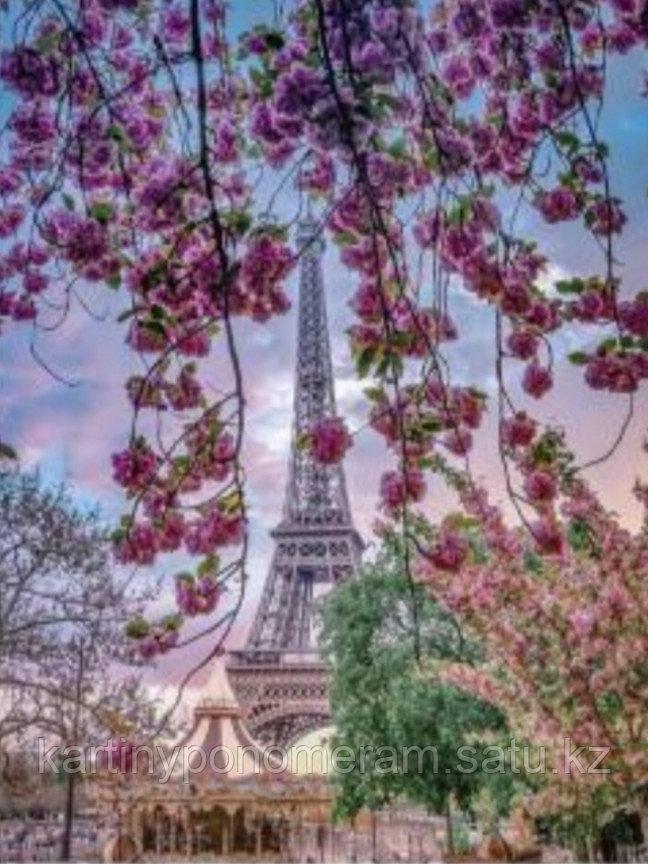 """Картина по номерам """"Цветущий Париж"""""""