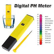 Цифровой PH метр c калибровочными растворами. Пш метр для жидкостей. Электронный ПШ метр