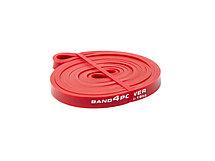 Красная резиновая петля (ширина  4.5 мм, нагрузка 4.5 -16 кг) Разминочный жгут для тренировок. Резиновая петля, фото 3