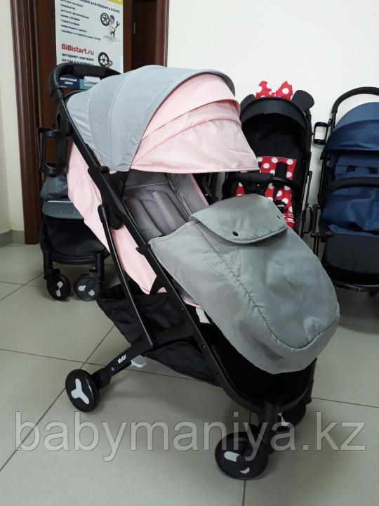 Коляска Mstar (Baby Grace) Серый/розовый