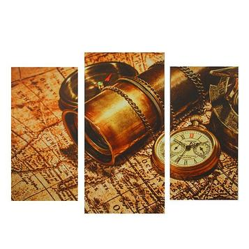 """Модульная картина на подрамнике """"Карта мира"""""""
