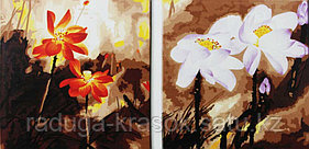 """Картины по номерам """"Оранжевые и белые цветы"""""""