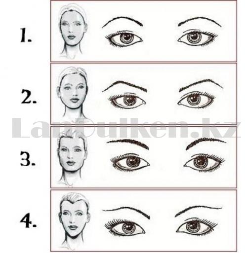 Набор карандашей-маркеров для бровей с щеточкой Dermacol (упаковка 3 шт)