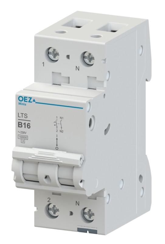 Автоматический выключатель LTS-2C-1N - LTS-63C-1N OEZ:42011 - OEZ:42023