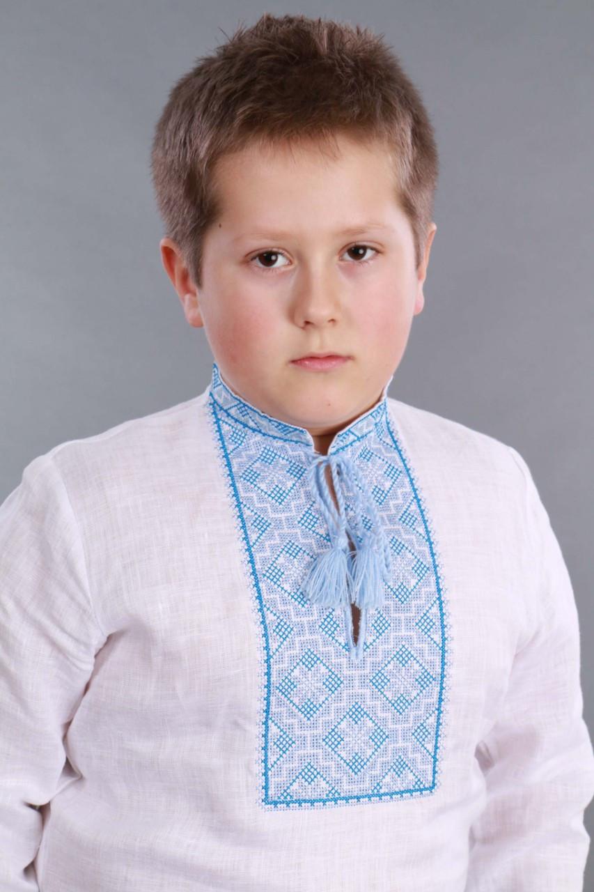 Вышиванка для мальчика 2004, голубая вышивка - фото 9