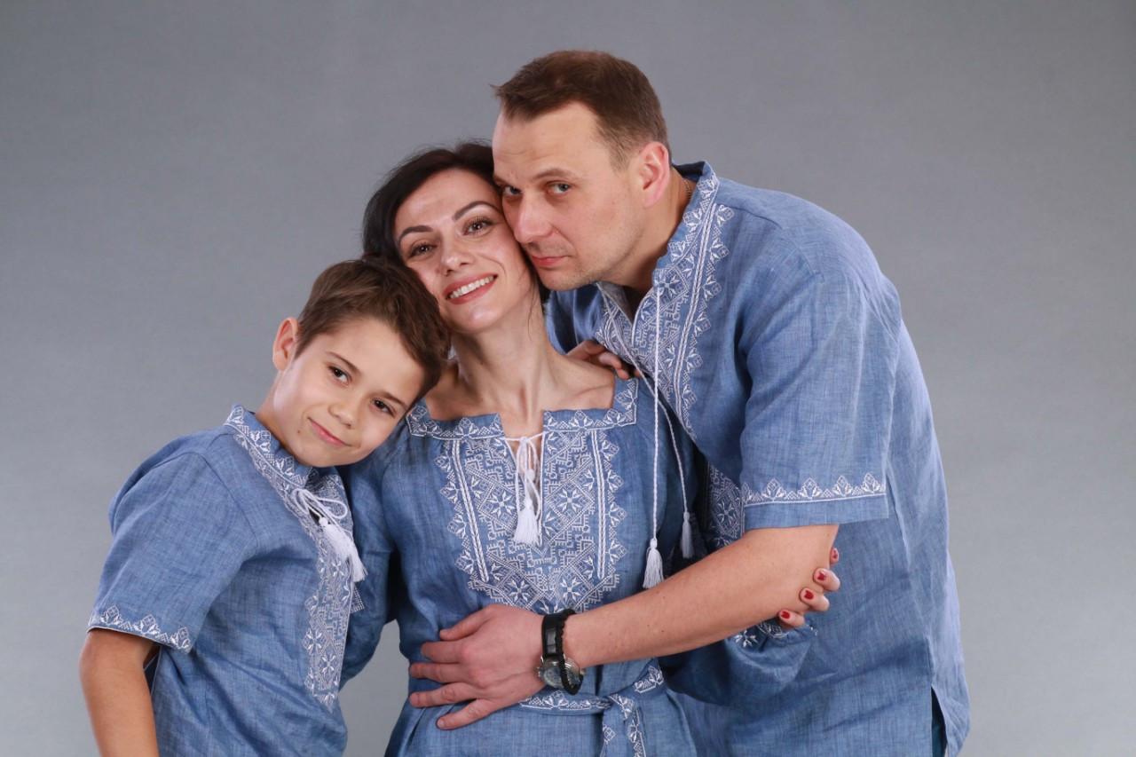 Вышиванка для мальчика 2004, белая вышивка, лен джинс - фото 10