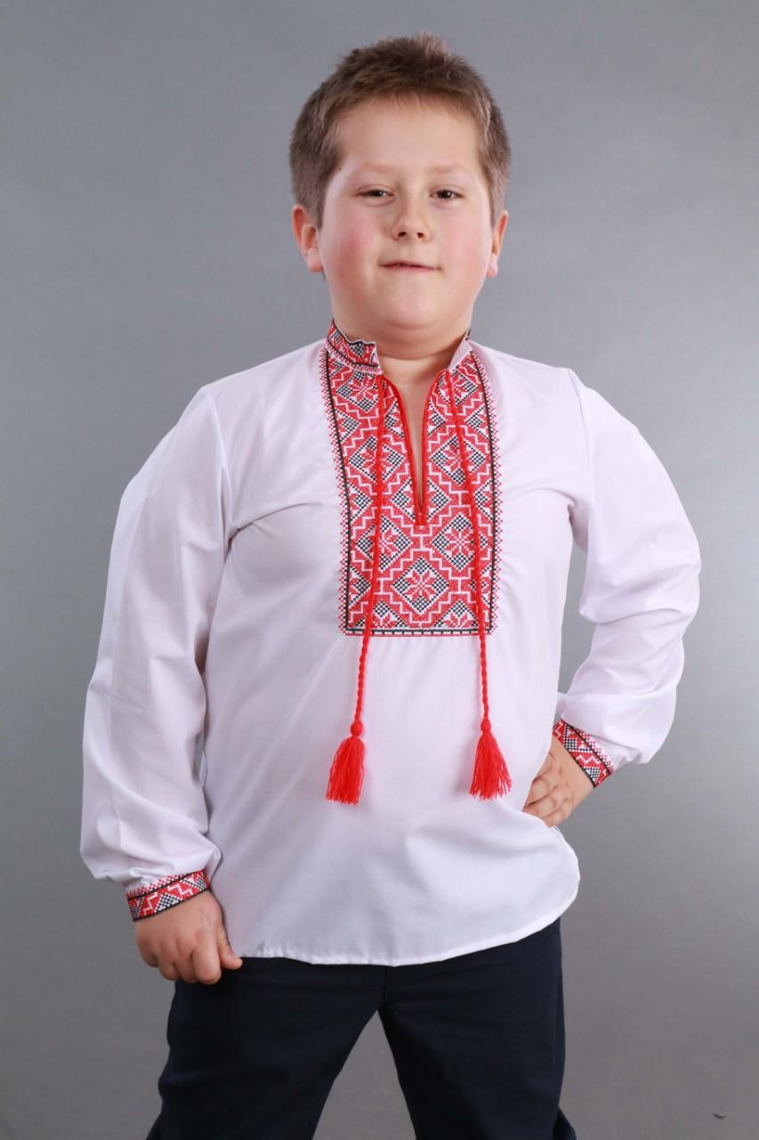 Детская вышиванка на мальчика, красно-черный узор Собственное производство - фото 6