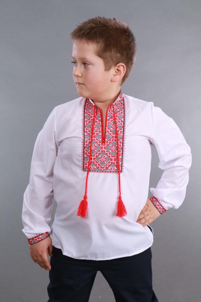 Детская вышиванка на мальчика, красно-черный узор Собственное производство - фото 8