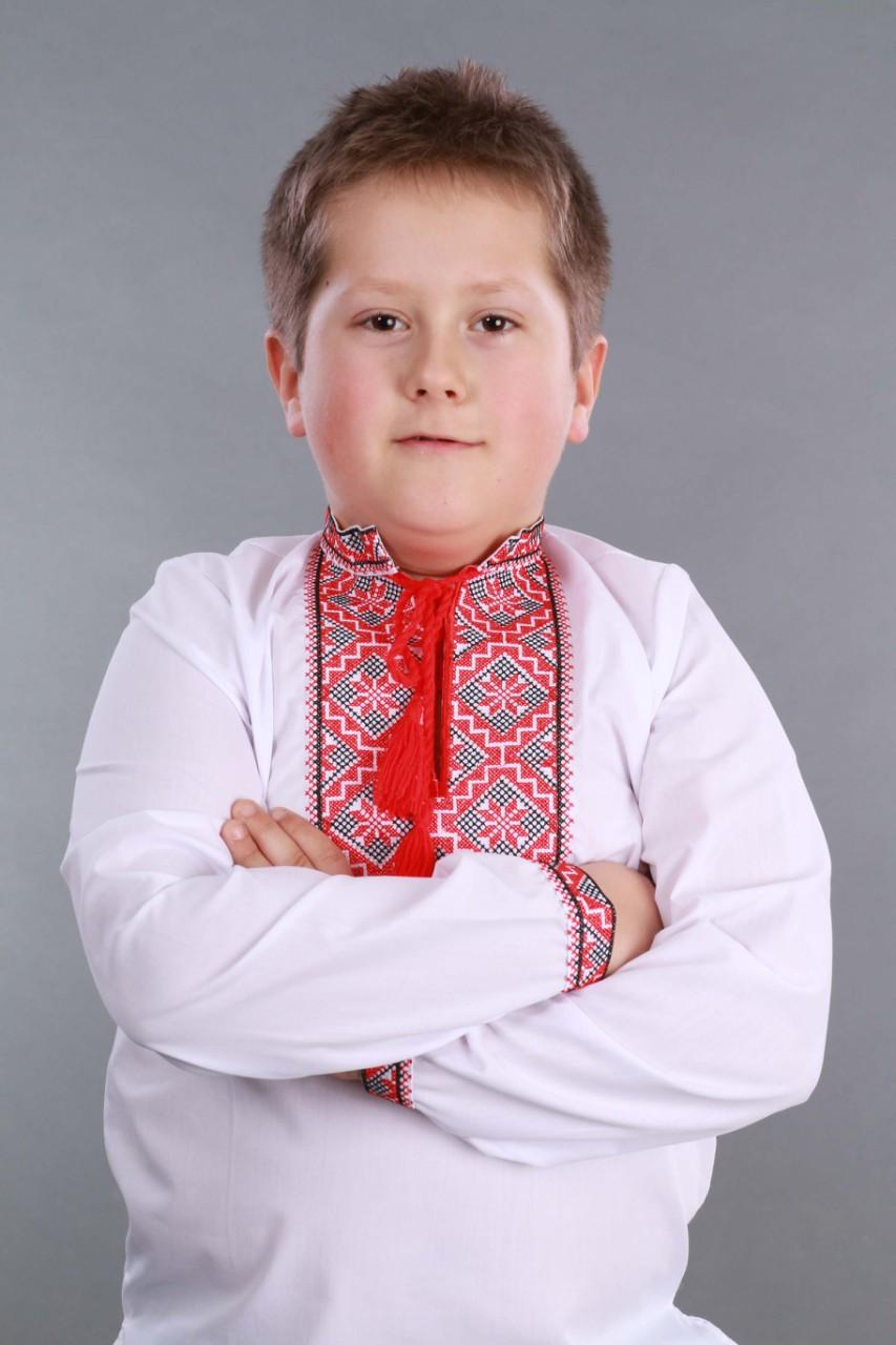Детская вышиванка на мальчика, красно-черный узор Собственное производство - фото 9