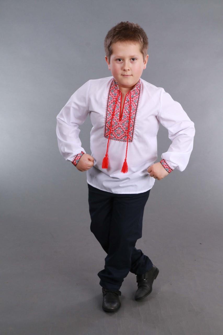 Детская вышиванка на мальчика, красно-черный узор Собственное производство - фото 10