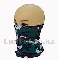 Бандана (бафф) Multi Scarf Military сине-зеленая большой принт , фото 1