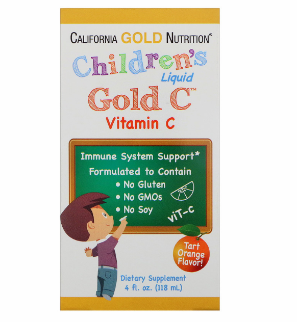 California Gold Nutrition, Children's Liquid Gold Vitamin C, реагент фармацевтической чистоты