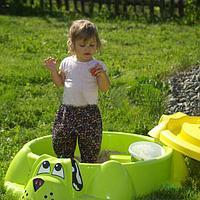 Песочница Собачка 432 с крышкой зеленая, фото 1