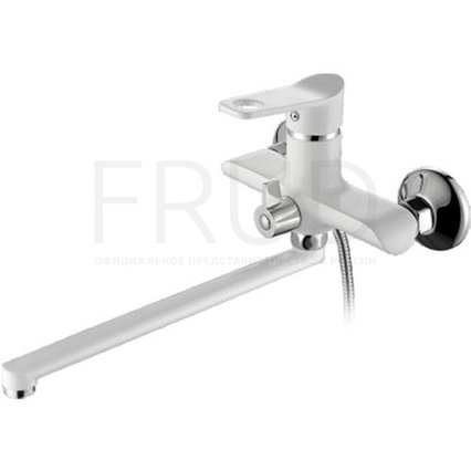 Frud 22121 смеситель для ванны длинный белый
