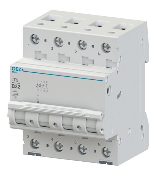 Автоматический выключатель LTS-2D-3N - LTS-63D-3N OEZ:43296 - OEZ:43299