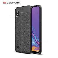 Силиконовый чехол Auto Focus Leather case для Samsung Galaxy A10 A105 2019 (черный), фото 1