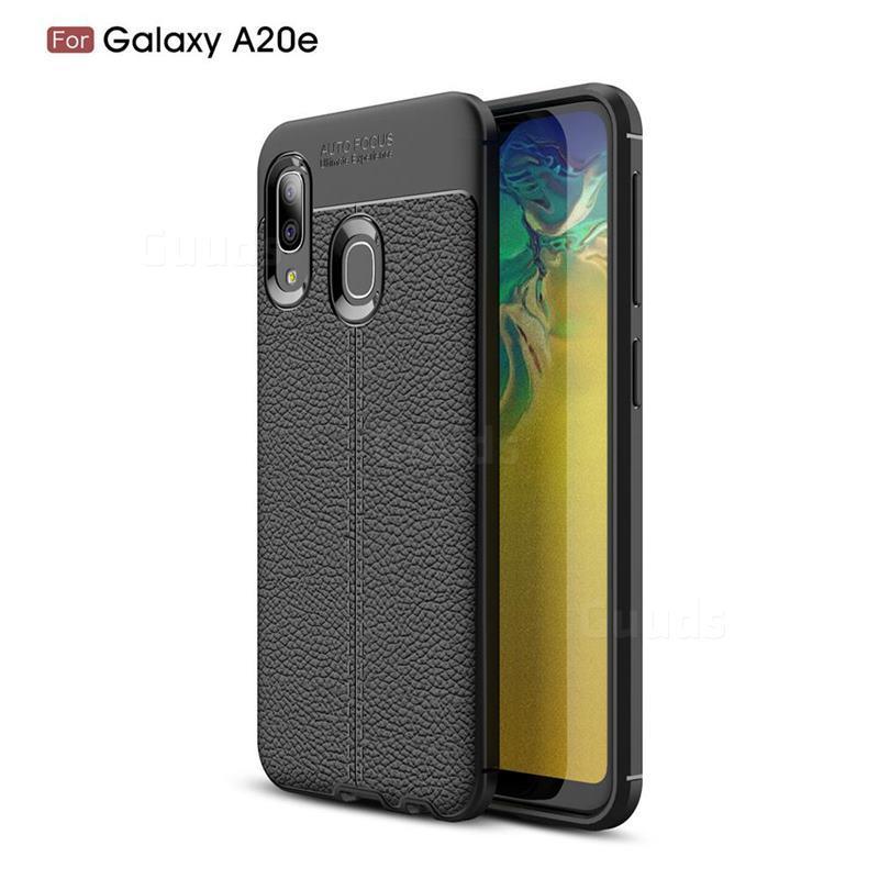 Силиконовый чехол Auto Focus Leather case для Samsung Galaxy A20 A205 2019 (черный)