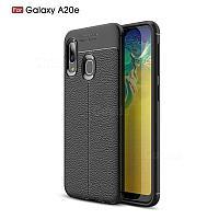 Силиконовый чехол Auto Focus Leather case для Samsung Galaxy A20 A205 2019 (черный), фото 1