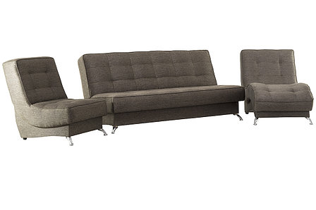Комплект мягкой мебели Рио 1, Коричневый, АСМ(Россия), фото 2