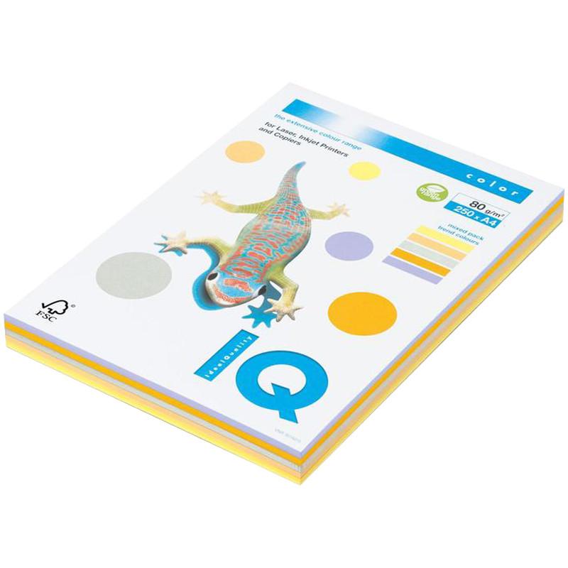"""Бумага """"IQ Color Trend Mixed Packs"""" А4, 80г/м2, 250л., 5 цветов, Mondi RB03"""