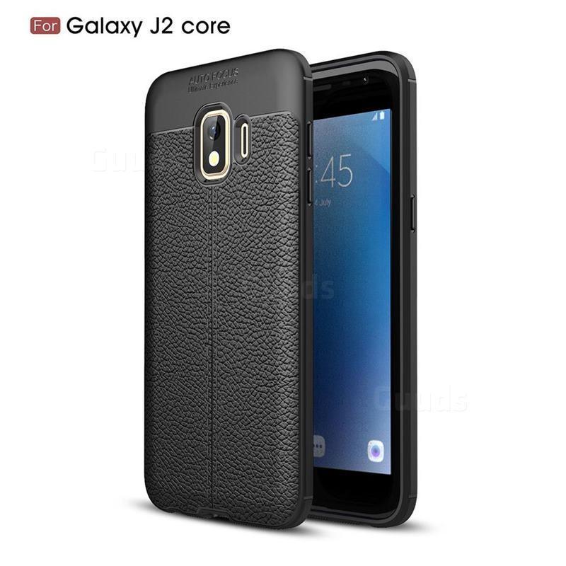 Силиконовый чехол Auto Focus Leather case для Samsung Galaxy J2 Core J260 2018 (черный)