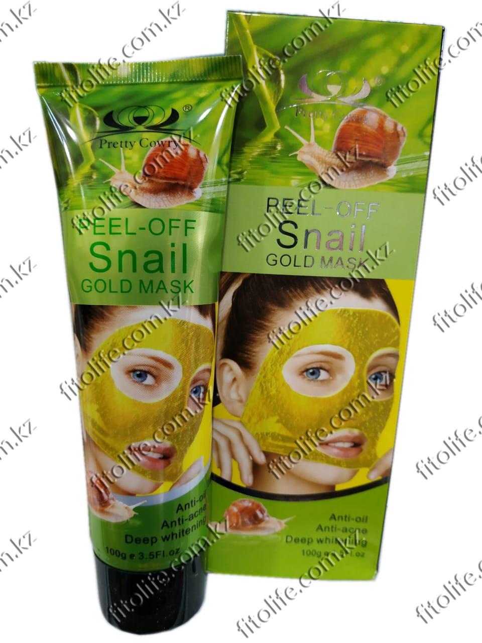 Peel-off snail gold mask, глубокое отбеливание, против акне и жира
