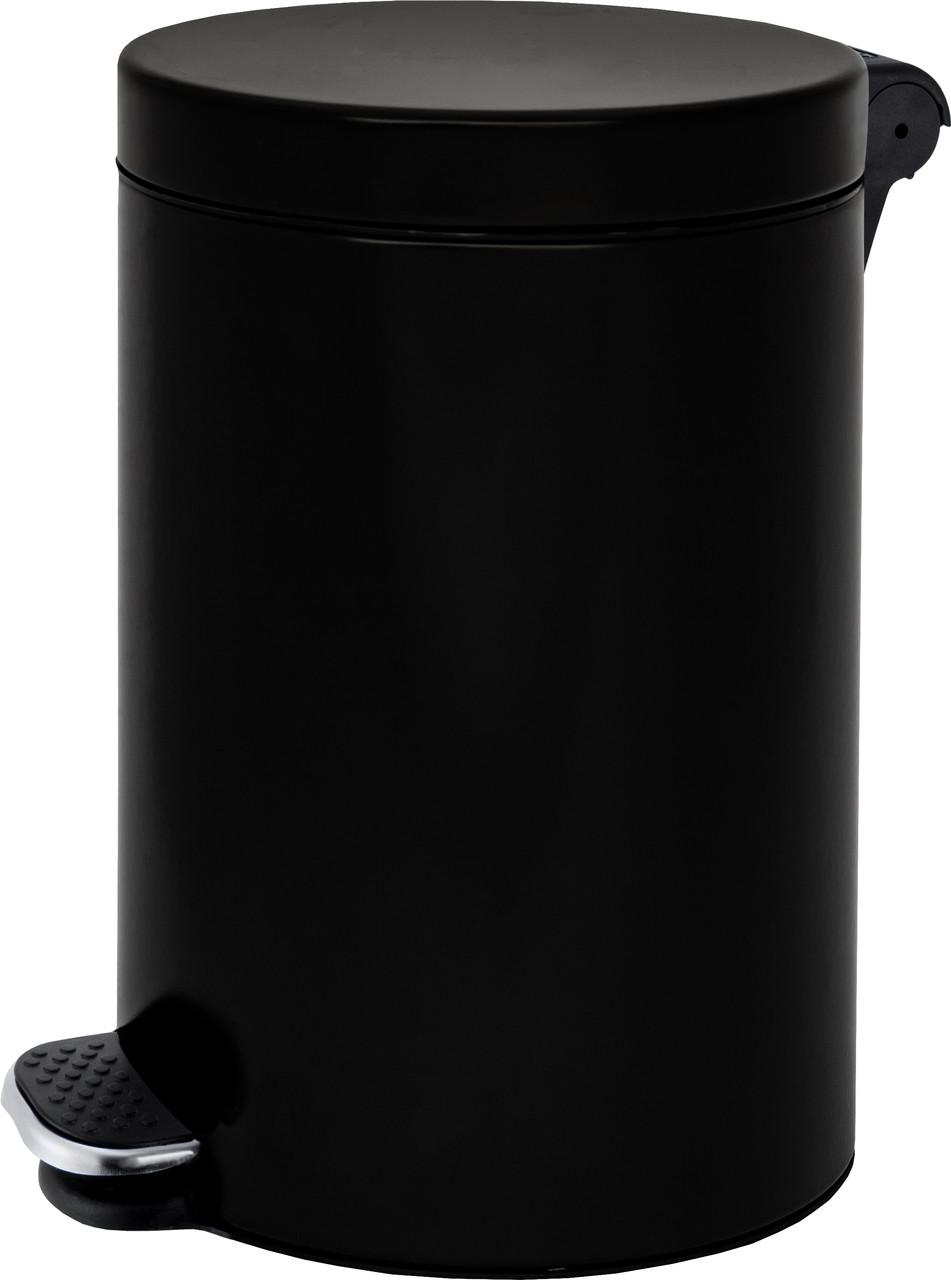 Урна с педалью ALDA FREEDOM FRESH 12L SOFT CLOSE с плавным закрыванием крышки (Чёрная)