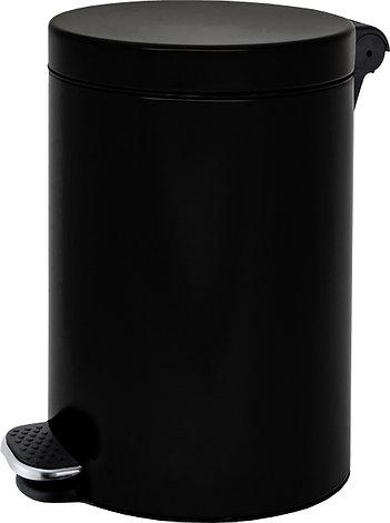 Урна с педалью ALDA FREEDOM FRESH 12L SOFT CLOSE с плавным закрыванием крышки (Чёрная), фото 2