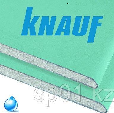 """Гипсокартон Влагостойкий стеновой ГКЛ """"KNAUF"""", толщина 12.5 мм, размер 1200*2500, фото 2"""
