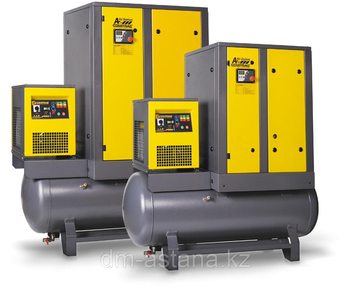 Винтовой компрессор, ресивер 270л, про-ть 1100 л/м
