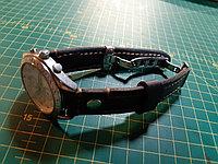 Кожаный ремешок для часов с застежкой бабочка