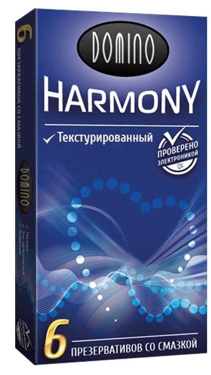 """Презервативы """"DOMINO HARMONY - Текстурированные"""", 6 штук"""