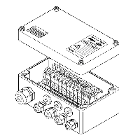 Проходная коробка (7xM25 + 1xM32) JB-MB-26/16MM2 (EE x e)