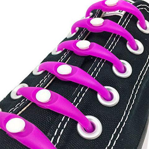 Шнурки силиконовые M-tie {6+6} (Фиолетовый)