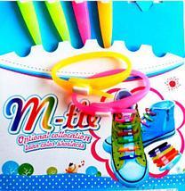 Шнурки силиконовые M-tie {6+6} (Фиолетовый), фото 2