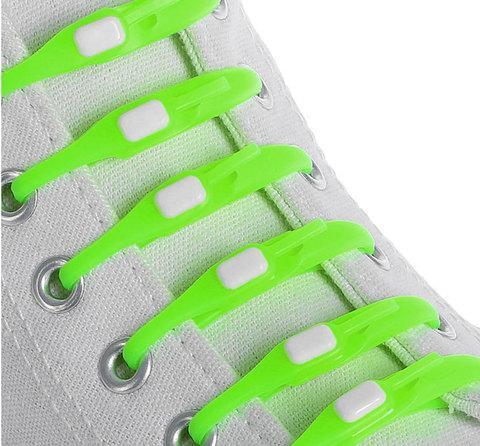 Шнурки силиконовые M-tie {6+6} (Салатовый)