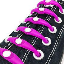 Шнурки силиконовые M-tie {6+6} (Салатовый), фото 2