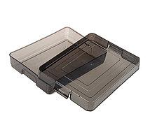Контейнер СТАММ для документов с защелками, тонированный серый
