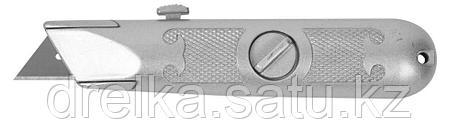 """Нож ЗУБР """"МАСТЕР"""" с трапециевидным лезвием тип А24, метал. корпус, выдвижное лезвие с автоматической фиксацией, фото 2"""