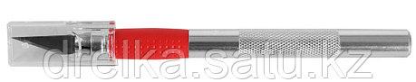 """Набор ЗУБР Нож """"МАСТЕР"""" для художеств. и дизайнер. работ, с перовым лезвием, метал. корпус, сталь У8А, фото 2"""
