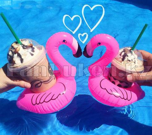 Надувная подставка под стакан для бассейна фламинго