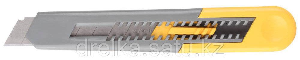 """Нож STAYER """"STANDARD"""" с сегментированным лезвием, инструментальная сталь, 18 мм"""