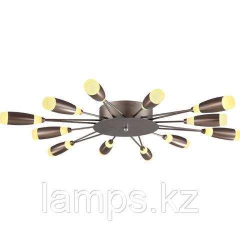 Люстра потолочная светодиодная FAVORI 62W коричневый 4000K