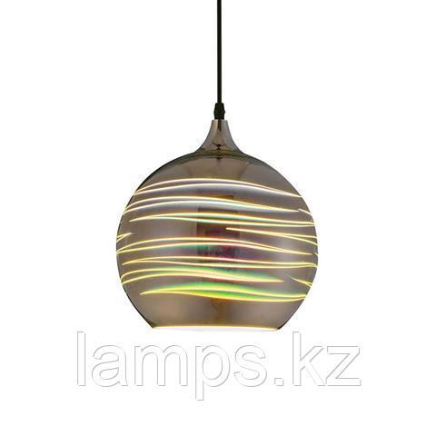 Люстра подвесная светодиодная LASER хром 1M 3D шаровидная